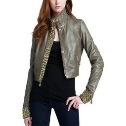 Erice Designer Leather Jackets | Stand Collar Leather Jacket for Women | leather Jacket with studded front closure | LeatherNXG Online | Scoop.it