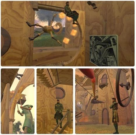 Tribute to Escher - Wolves Land - Just Imagine - Serena Imagine Arts Center - second life | Durff | Scoop.it