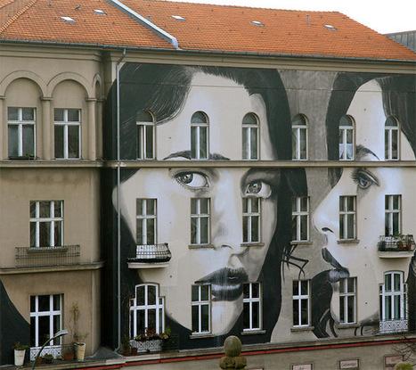 Beautiful Three-Part Mural Covers a Five-Story Berlin Building | Art contemporain | Scoop.it