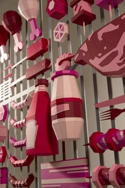 Le barbecue en Paper Art de Zim and Zou | Publiz - Inspiration graphique et publicité créative | Inspirations graphiques | Scoop.it