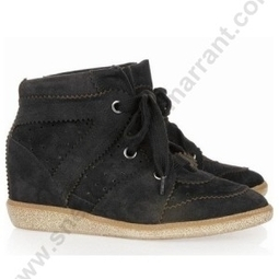 NYHID-62S Isabel Marant BobBy Black Suede Wedge Sneakers Good Seller Sale At Acceptable Price | sneakerisabelmarrant.com | Scoop.it