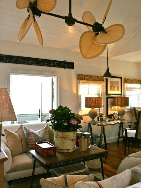 Decorating With Ceiling Fans Design, Pictures, Remodel, Decor and Ideas | Air Circulation and Ceiling Fans | Scoop.it