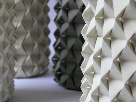 Palmas vase origami béton par Ofir Zucker et Ilan Garibi - Blog Esprit Design | Le béton créatif et poétique | Scoop.it