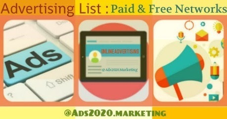 Online Advertising List- Paid & Free Local Web Sites & Ad Netowrks | Online advertising | Scoop.it