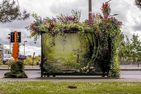 Les abribus fleurissent à Nantes | Habillage Urbain | Scoop.it