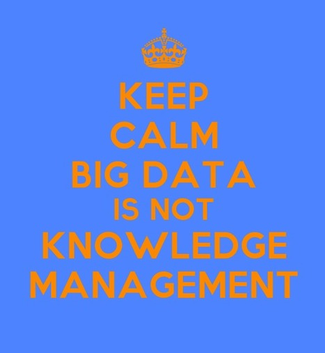 Keep Calm - Knowledge Management Series: Big Data is NOT KM | KM | Scoop.it