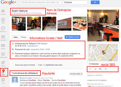 Conseils d'optimisation de la page Google+ Local | formation 2.0 | Scoop.it