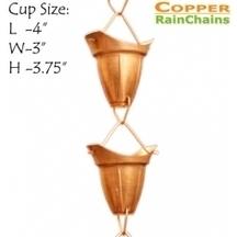Copper Bell Cup Rain Chain 8.5 ft | Copper Rain Chains | Scoop.it