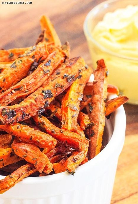 Oven Baked Carrot and Sweet Potato Fries - Wishful Chef | Recipes | Scoop.it