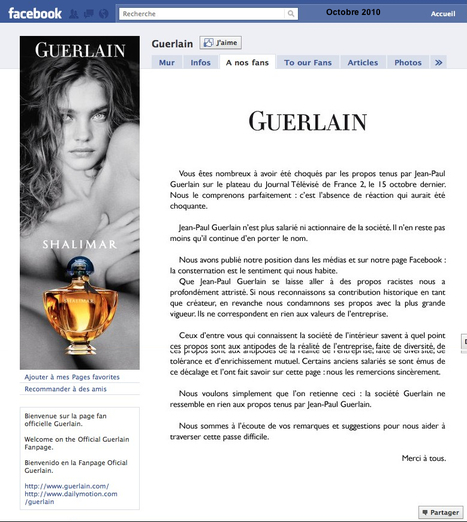 BadBuzz Guerlain | CommunicationDeCrise | Scoop.it