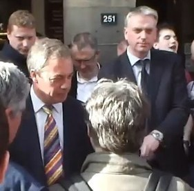 "VIDEO | ""Nigel is a Bawbag"" Farage Edinburgh Protest 