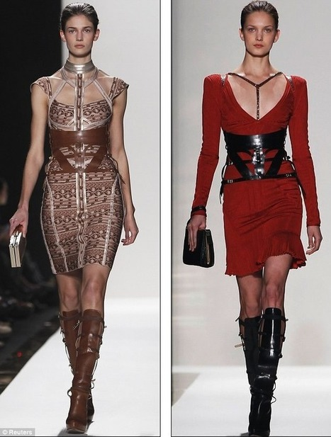 Equestrian chic at Herve Leger with bridle-like belts and towering riding boots | Huge savings with BLUEBAY RESORTS coupon codes | Scoop.it