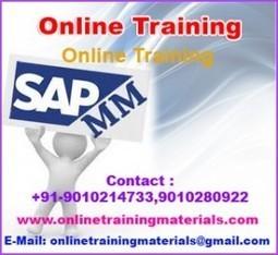 SAP MM online training institute in Ameerpet, SAP MM Online Training Institute from Hyderabad India.   Online Training Materials   Online Training   Scoop.it