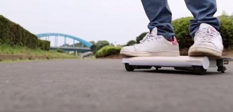 """Le """"WalkCar"""" : étrange hybride entre un skateboard et un Segway   Geek or not ?   Scoop.it"""