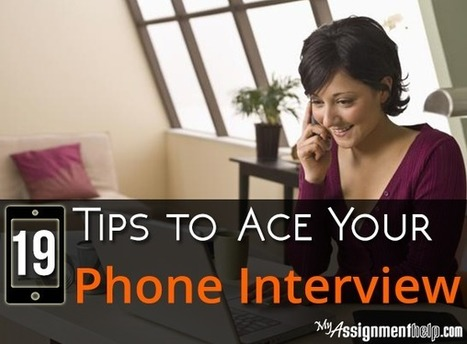 19 Tricks to Nail a Phone Interview | MyAssignmentHelp.Com Reviews Australia Assignment Help | Scoop.it