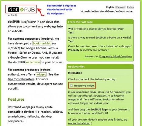 Convertir toute page Web en ePub, dotEPUB   Las TIC en el aula de ELE   Scoop.it
