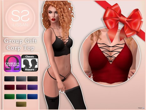 Corp Top with Omega Applier Group Gift by LISSAN | Teleport Hub - Second Life Freebies | Second Life Freebies | Scoop.it
