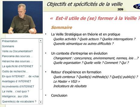 Cours (vidéo) sur la veille stratégique par Jean-Claude Damien, Professeur Université Lille 1 | François MAGNAN  Formateur Consultant | Scoop.it