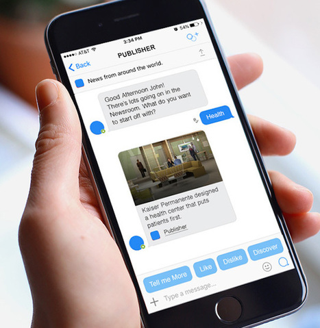 Outbrain's Chat Bots Are Coming To Facebook Messenger, Kik And Telegram | Talking things | Scoop.it