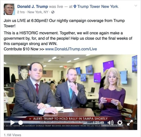 Trump Team Starts Nightly Show on Facebook Live | Public Relations & Social Media Insight | Scoop.it