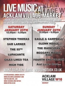 hotvox @ Acklam Village Market | Music for a London Life | Scoop.it