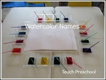 Our names in watercolor | Happy Days Learning Center - Resources & Ideas for Pre-School Lesson Planning | Scoop.it