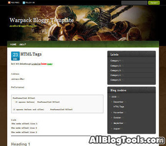 Warpack Blogger Template | Awesome jQuery Tutorials | Scoop.it