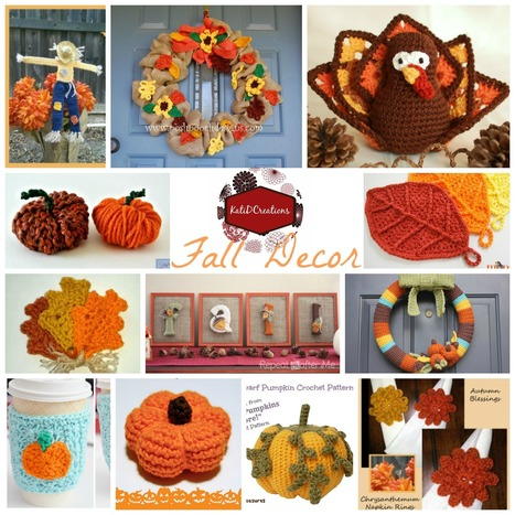 Fall Decorations | KatiDCreations | Crochet with Meladora's Creations | Scoop.it