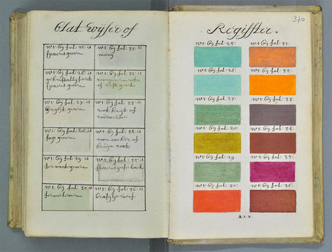271 Years Before Pantone, an Artist Mixed and Described Every Color Imaginable in an 800-Page Book | Random Ephemera | Scoop.it
