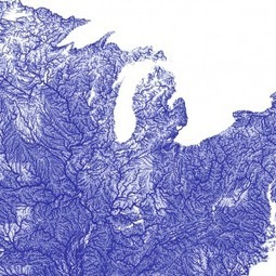 The Map Of American Rivers Is A Piece Of Artistic And Biological Genius | Suburban Land Trusts | Scoop.it