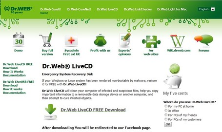Dr.Web® LiveCD | ICT Security Tools | Scoop.it