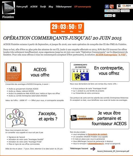 ACEOS Finistère, Opération commercant , devenez partenaire et gagnez la solution ENTREPRISE à vie   ACEOS Finistère, Economisez et développez vos ventes !   Scoop.it