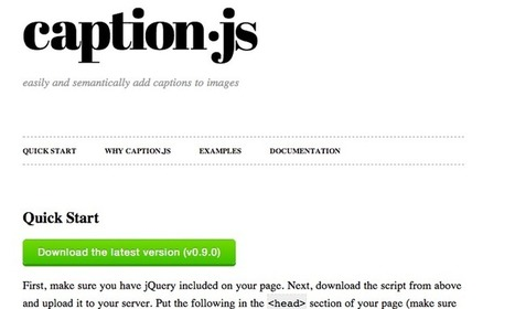 Best Open Source CSS3 and jQuery Image Captions | Sobre diseño en la web | Scoop.it