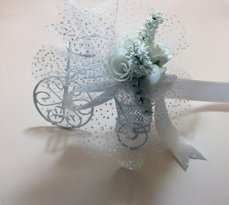 wedding gift 10xSET White Bicycle Wedding Favor Bike white roses customized design | wedding | Scoop.it