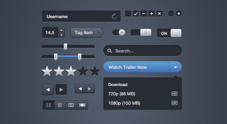35 Free User Interface Kits for Mobile and Web Designers - SpyreStudios | Eric's UX | Scoop.it