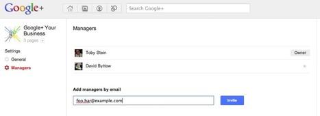Les nouveautés des pages Google+ : multi-administrateurs, notifications et unification du +1 | googleplus | Scoop.it