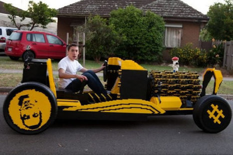 Guy Builds Full Size Lego Car With Fully Functioning Lego Car Engine | My Dream Garage | Scoop.it