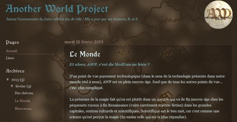 Another World Project | Jeux de Rôle | Scoop.it