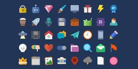 10 packs d'icons pour réaliser des webdesign en Flat Design - ressources | Web & nouvelles technologies | Scoop.it