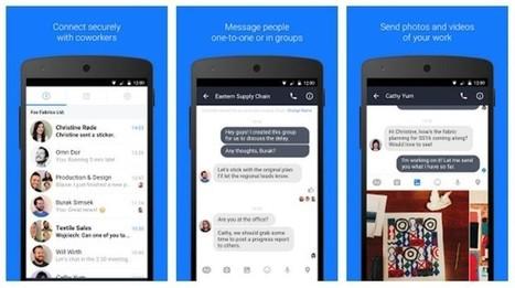 Facebook lanza Work Chat, su Messenger empresarial | Aprendiendoaenseñar | Scoop.it