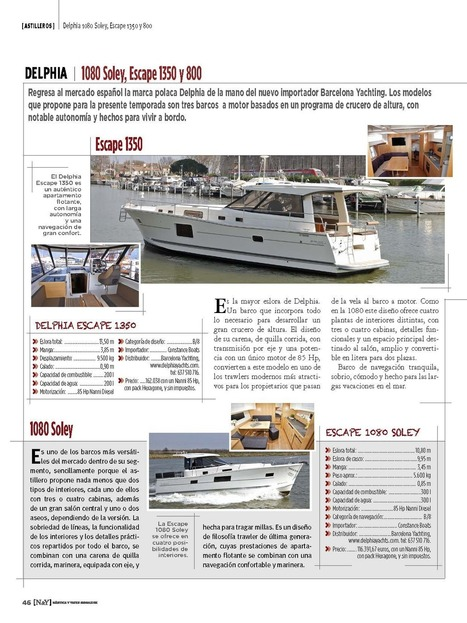 Article DELPHIA dans la revue NÁUTICA & YATES M@gazine nº12 | Barcelona Yachting | Scoop.it