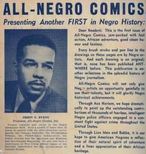 The New Negro As Comic Book Artist « The Hooded Utilitarian | African American Studies | Scoop.it