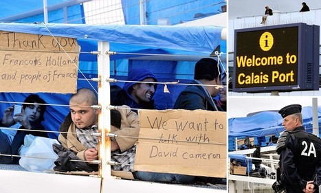 Syrian asylum seekers occupy a roof and footbridge in Calais | syria | Scoop.it