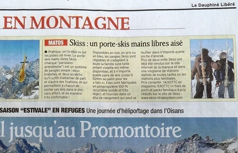 Le Dauphiné Libéré : Article sur SKISS, le porte-skis mains libres et sans effort | L'innovation SKISS : toute la presse en parle ! | Scoop.it