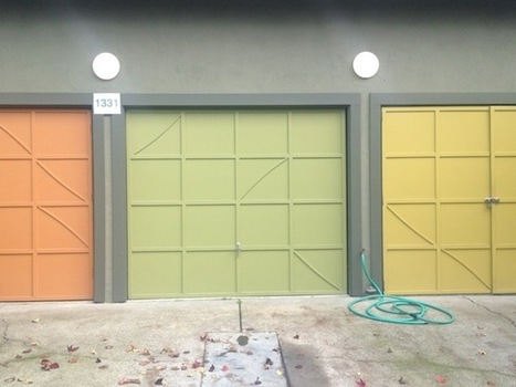 How quirky is Berkeley? Painted garage doors | Paint Colors | Scoop.it