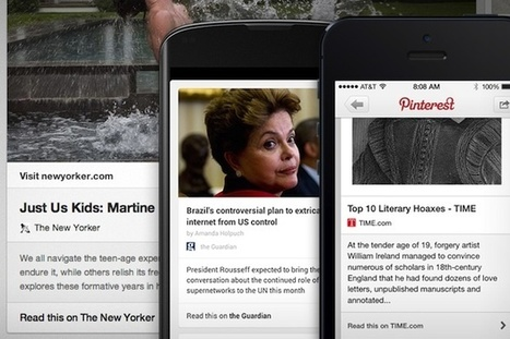 Pinterest rolls out revamped pins for articles, aims to grab more of ... | Social Bookmarking | Scoop.it