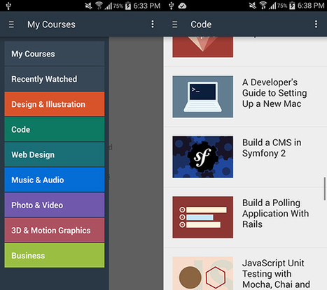 Learn on the Go, With the New Tuts+ Courses Android App - Tuts+ | Time to Learn | Scoop.it
