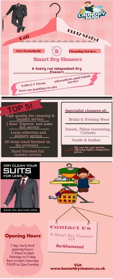 Dry cleaning and Laundry Services: House Hold Services | B Smart Dry Cleaners | Scoop.it
