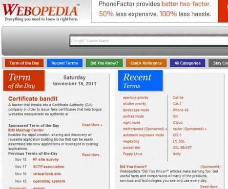 webopedia – Una enciclopedia sobre términos de tecnología   Recull diari   Scoop.it