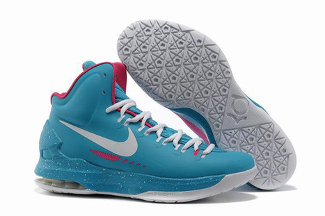 Kevin Durant Shoes KD V ID Nike Mens Shoes Blue White Pink | my style | Scoop.it